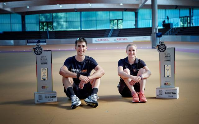 Mareike Thum and Felix Rijhnen's World Skate Hour Record